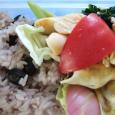 黒豆ご飯の弁当。 Black bean rice bento