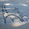 水で描く。 Water art