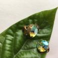 チェコガラスのイヤリング。 Czech glass earrings