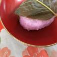 桜餅(道明寺)。 Sakura mochi_Domyoji