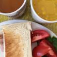 カボチャのスープ。 Pumpkin soup