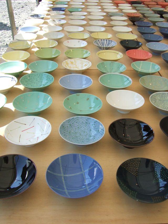 白山陶器の平茶碗。
